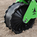 Concave press wheel for Wizard seed planter